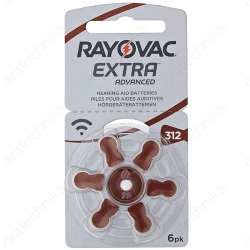 Rayovac HA312 hallókészülék elem 6db/csomag