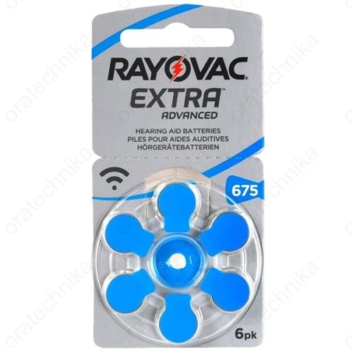 Rayovac HA675 hallókészülék elem 6db/csomag
