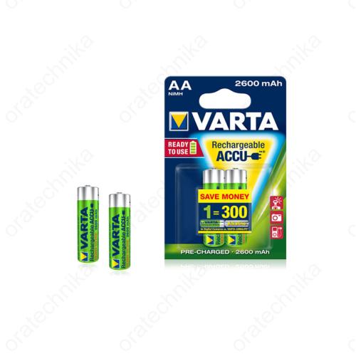 Újratölthető akkumulátor, AA méret, 2600 mAh-es kapacitás 2db / csom.