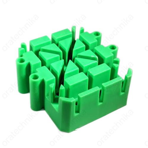 Óracsat szerelő állvány - zöld